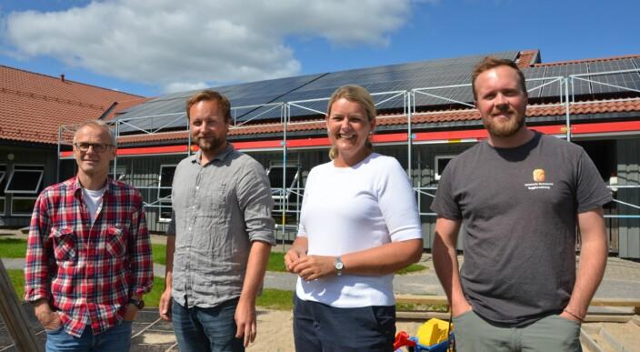 Barnehagen blir kommunens aller første produsent av solkraft