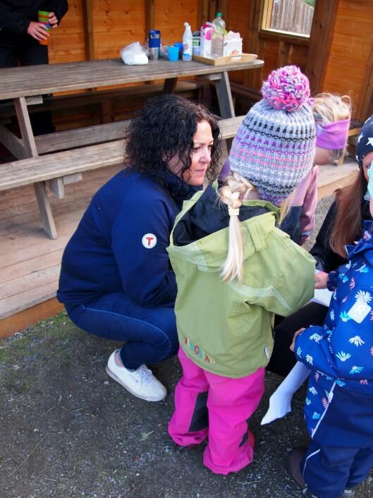 Nina Hjulstad er tilbake igjen på jobb i barnehagen.