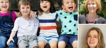 Forsker på tilhørighet i barnehagen: – Å høre til er et grunnleggende behov for både små og store