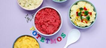 Lag potetmos på 1-2-3 og la grønnsakene sette farge på mosen