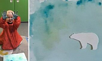 Barnehagebarna og kunstneren Vebjørn Sand ble inspirert av hverandre