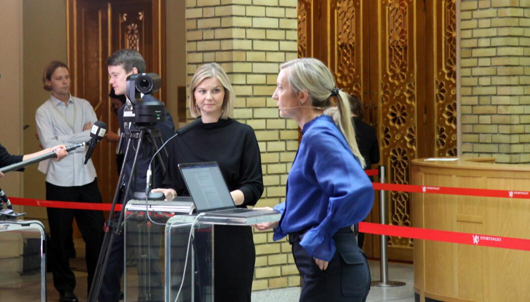 Kunnskapsminister Guri Melby (V) slår fast at større endringer i barnehageloven vil ikke bli lagt fram for Stortinget i vår.