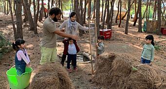 Startet naturbarnehage i flyktningleir – nå står den i fare for å måtte stenge