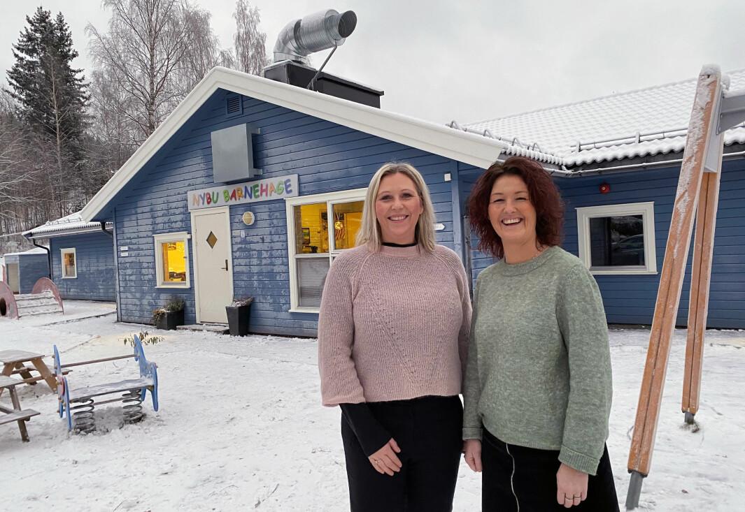 Line E. Dalseng (til venstre) og Aina Branden eier og driver hver sin barnehage.