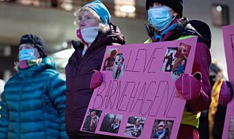 Engasjerte foreldre demonstrerte for barnehagene sine