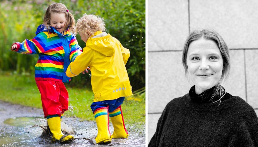 – Det er på høy tid at de lekne ansatte i barnehagen blir løftet frem, sier Birgitte Fjørtoft.