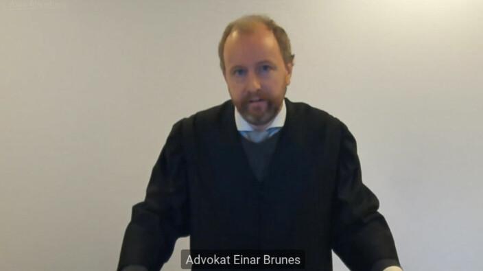 PBL med advokat Einar Brunes stilte som partshjelper i saken.