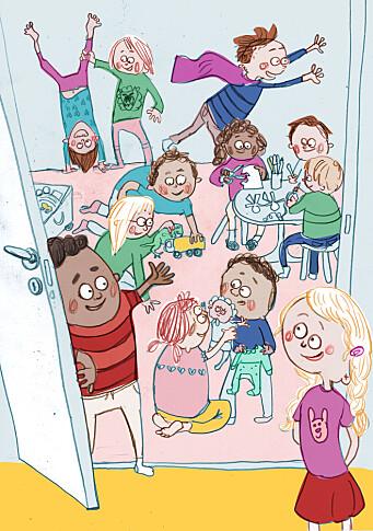"""<span class="""" italic"""" data-lab-italic_desktop=""""italic"""">Illustrasjonene er laget av illustratør og barnebokforfatter Camilla Kuhn. – Det har vært spennende å samarbeide med en kunstner. Hun har greid å fange barnas hverdag i sine illustrasjoner, sier styrer Jorunn Indrevik.</span>"""