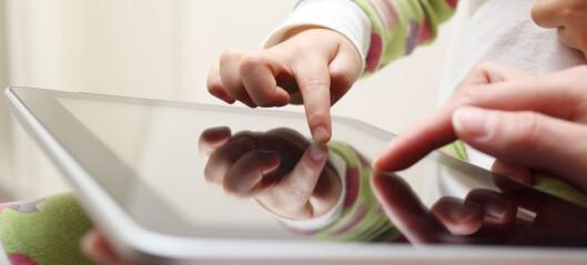 Rapport: Halvparten av barna i barnehagealder har tilgang til nettbrett