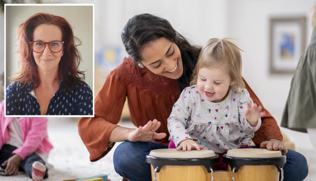 I arbeidet med de yngste barnehagebarna trenger man ulike kommunikasjonsformer som fremhever kroppslige og spontane uttrykksformer for å kunne løfte barna frem som likeverdige partnere og deltakere i samspill, mener forsker Ingrid Bjørkøy.