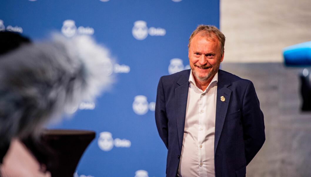 Byrådsleder Raymond Johansen (Ap) under en pressekonferanse om koronasituasjonen i Oslo tidligere i vinter. Nå skal han legge 50 millioner kroner på bordet for å styrke bemanningen i barnehagene, ifølge Aftenposten.
