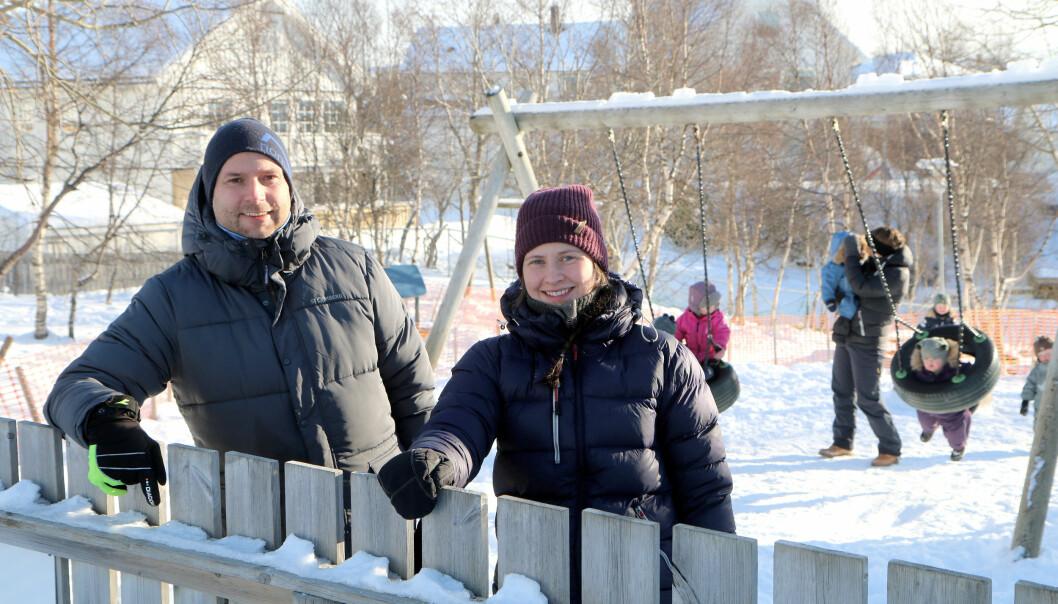 Styrer Jan Magnus Mikalsen og pedagogisk leder Rebekka Kvalvik Hanssen i Norlandia Paradiset barnehage i Bodø har vært til inspirasjon for mange når det kommer til å holde sykefraværet nede.