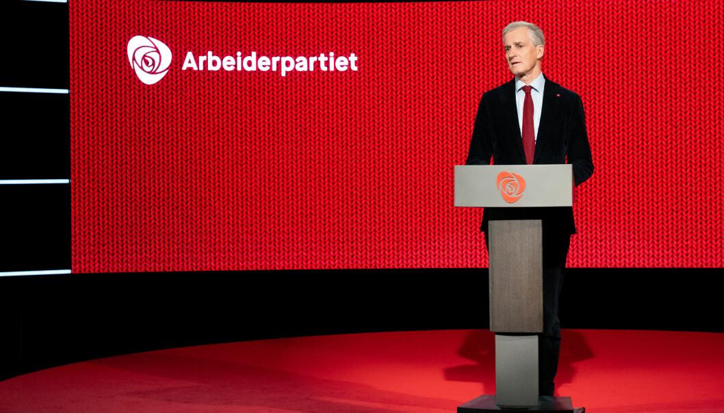 Jonas Gahr Støre på Arbeiderpartiets landsmøte.