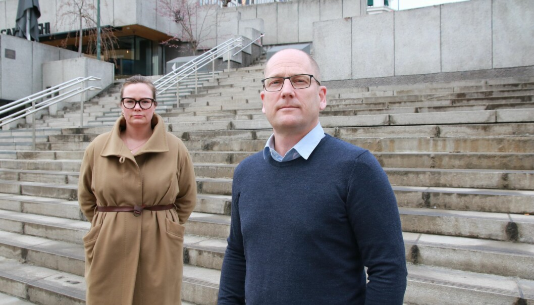 Forhandlingsleder Steffen Handal og nestleder Silje Naustvik i Unio kommune krever en klar reallønnsvekst.