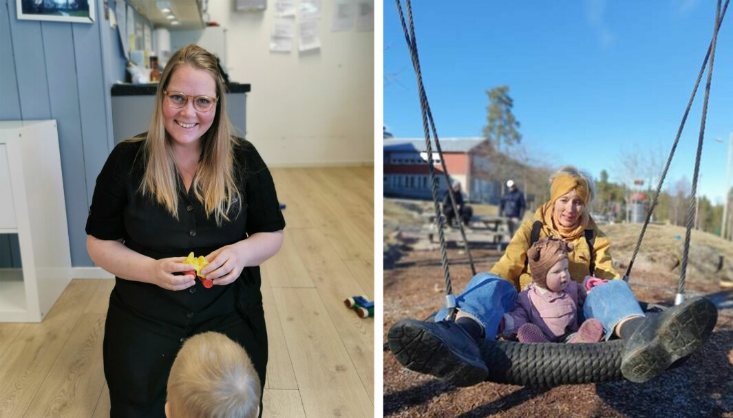 Christine Hernø Gabrielli (til venstre), daglig leder i Ånnerud Barnehus, har en god plan for tilvenningen til høsten. Det blir ekstra viktig i år, ifølge professor i klinisk barnepsykologi Turid Suzanne Berg-Nielsen.