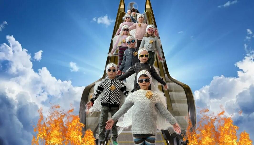Barna i Mobarn Røsandåsen barnehage fikk videohilsen fra Andreas Haukeland, alias Tix, etter at de lagde sin versjon av det norske Grand Prix-bidraget.