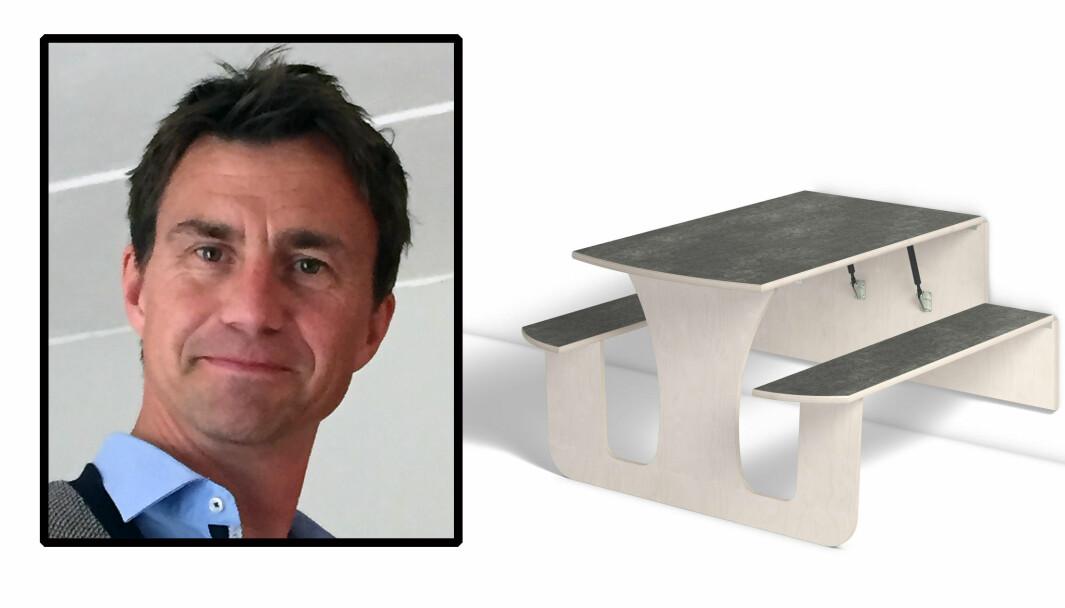 Terje Svensson er Kvalitet- og miljøsjef i Lekolar, en av leverandørene som selger de svært populære vegghengte bordene. Han forteller om flere skrekkeksempler fra barnehager der sikkerheten ikke er godt nok ivaretatt.