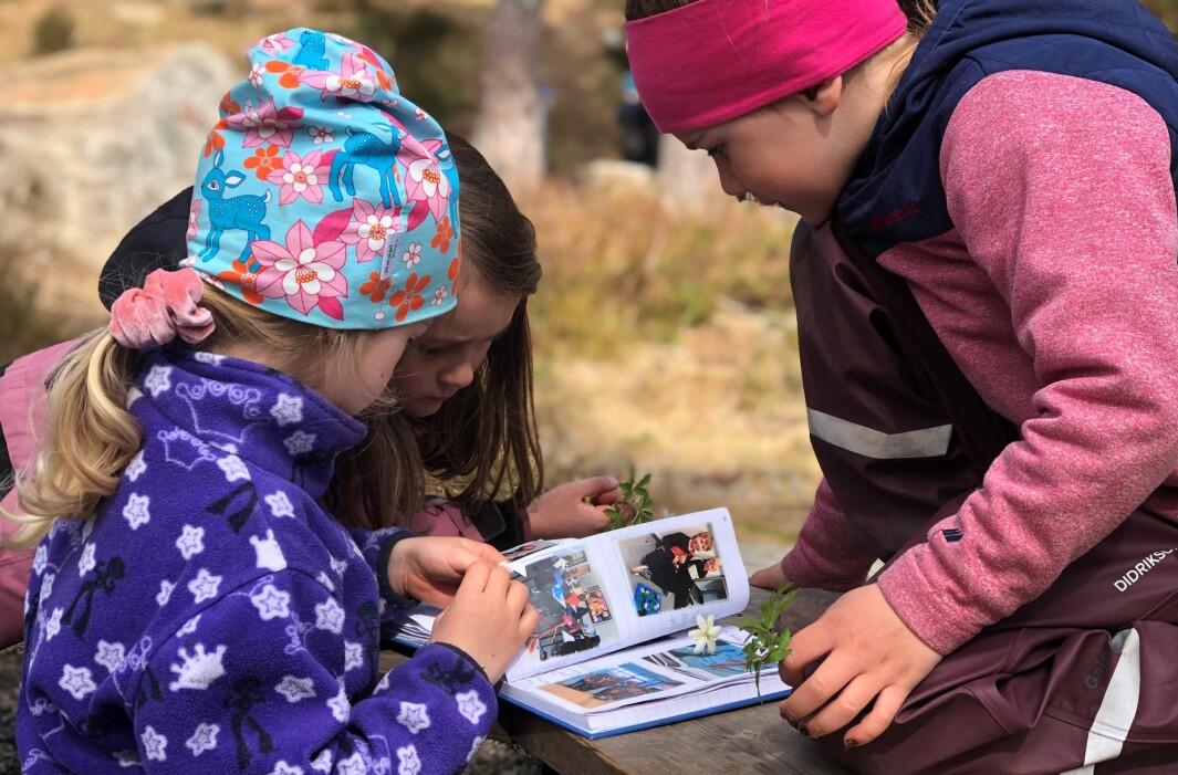 Knerten har skrevet reisebrev i bokform fra skolen. Snart blir disse fem- og seksåringene i Plassebakken barnehage førsteklassinger. På denne måten får de vite litt mer om hva som venter dem.