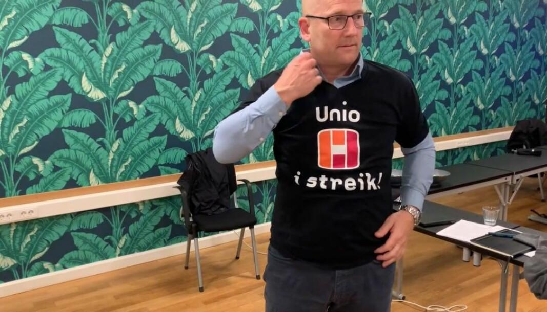 Steffen Handal (Utdanningsforbundet) er forhandlingsleder i Unio kommune.