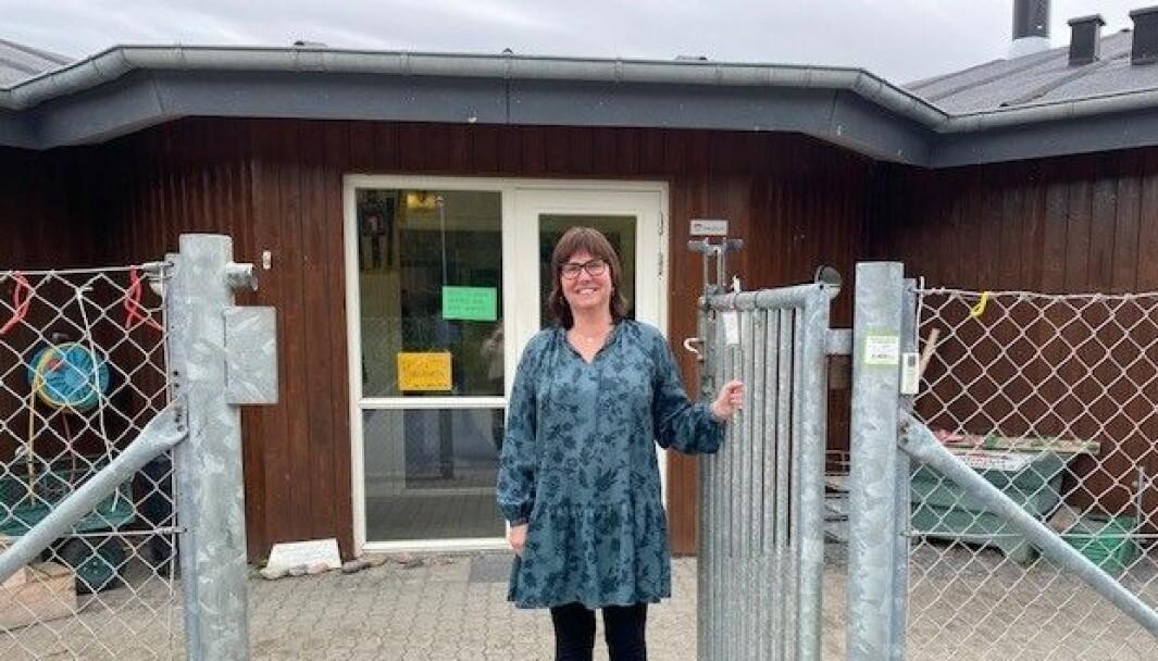 Jennie Furulund i Lundegaardsløkka barnehage på Lillehammer frykter for framtida hvis forslaget til Storbergetutvalget fører fram.