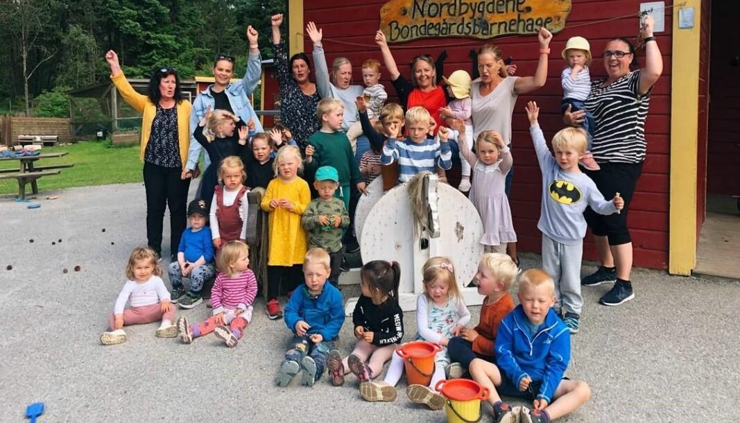 Nordbygdene bondegårdsbarnehage er nominert til Årets barnehage 2021.