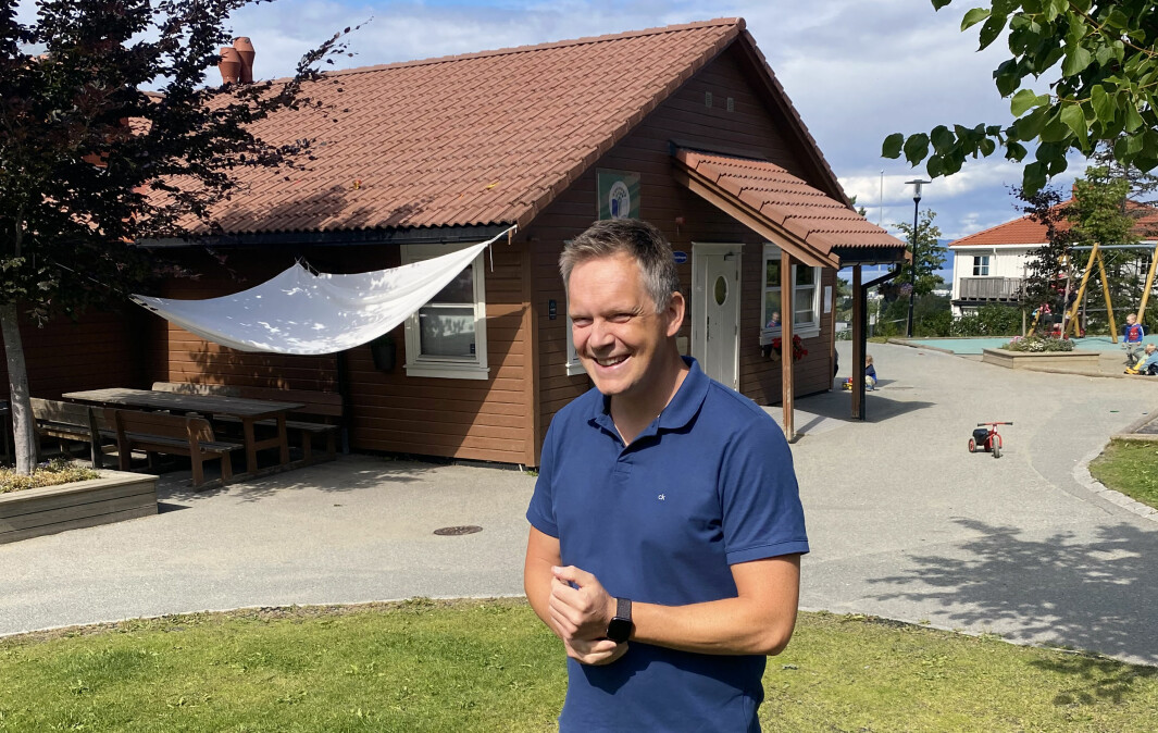 Daglig leder Torstein Johannessen i Bergheim barnehage er veldig fornøyd med at Trondheim kommune åpner drop-in for å gi andredosen til barnehageansatte.