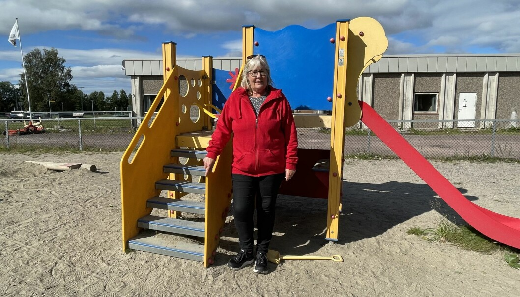 Styrer May Krüger i Trimveien barnehage i Horten er bekymret for at barna vil slite med ettervirkninger etter koronatesting.