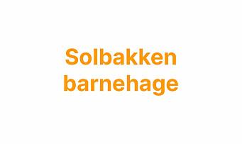 Barnehagelærer til Solbakken barnehage