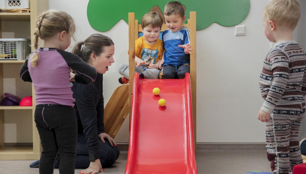 – Vi ser at det foregår veldig mye bra arbeid ute i barnehagene, sier universitetslektor ved Matematikksentret, Camilla Normann Justnes (på bildet).