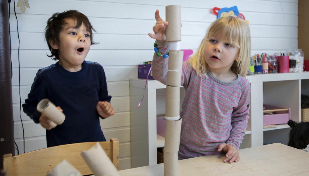 """<span class="""" italic"""" data-lab-italic_desktop=""""italic"""">– Barnehagebarn skal introduseres for matematikk på den norske barnehagens premisser , sier Camilla Normann Justnes ved Matematikksenteret.</span>"""