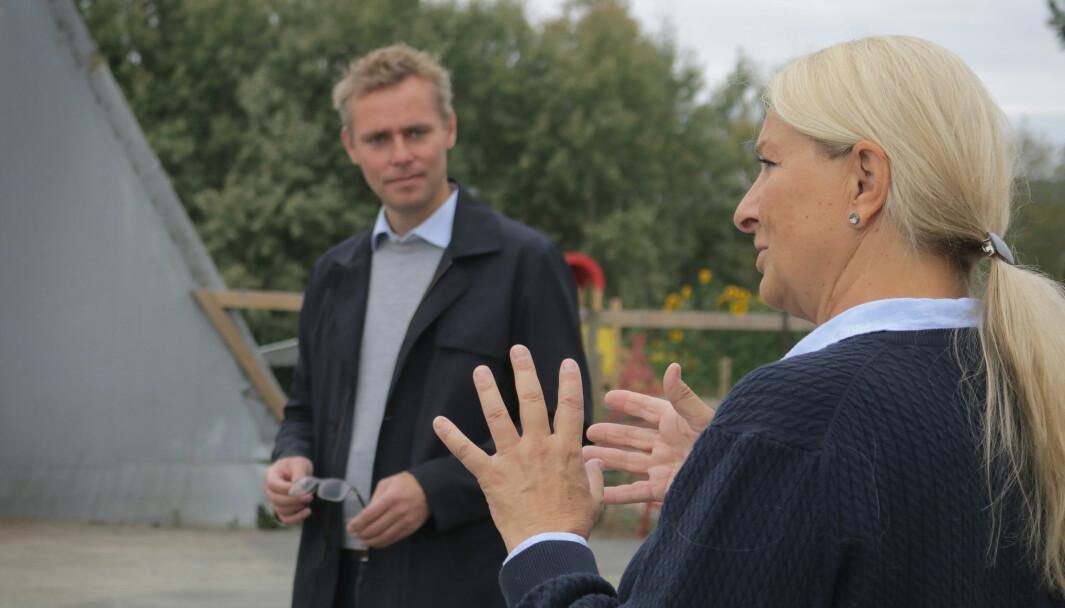 Hjørdis K. Thyholt i Medbroen gårdsbarnehage fikk denne uken besøk av Ola Borten Moe (Sp). Da kom hun naturlig nok inn på forslagene i Storberget-utvalgets rapport.