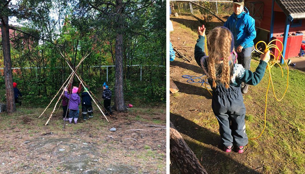 I boka «Samiske stemmer i barnehagen» deler nærmere 20 samiske kulturformidlere, ledere og barnehagelærere sin av kunnskap og sine erfaringer. (Bildene er tatt i Álttá Siida barnehage.)