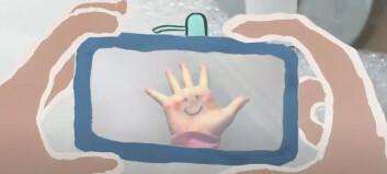 Samarbeid mellom kunstner, forsker og barnehagebarn resulterte i film om håndvask