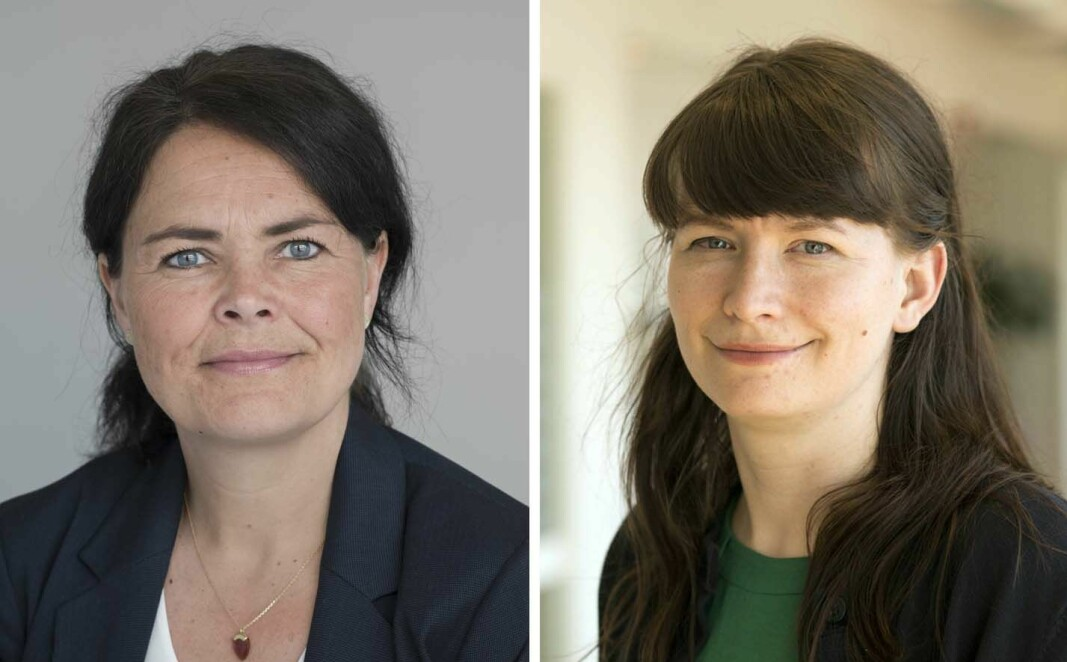Thale Skybak (til venstre) og Anne Elin Kleva i Redd Barna utfordrer den påtroppende regjeringen til å gjøre noe med bemanningsnormen.