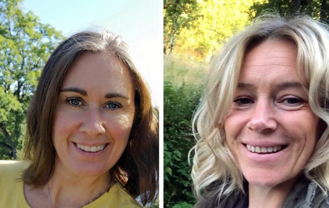 Ingrid Iversen (til venstre) er styrer og tidligere medeier i Læringsverkstedet Granåslia barnehage, mens Trude Sjøhagen Nordgaard er styrer i Læringsverkstedet Sætra idrettsbarnehage. Begge barnehagene ligger i Trondheim.